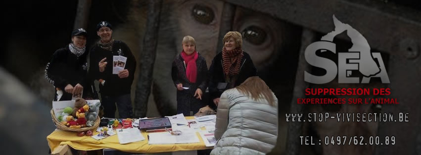 STANDS CONTRE LA VIVISECTION – S.E.A.
